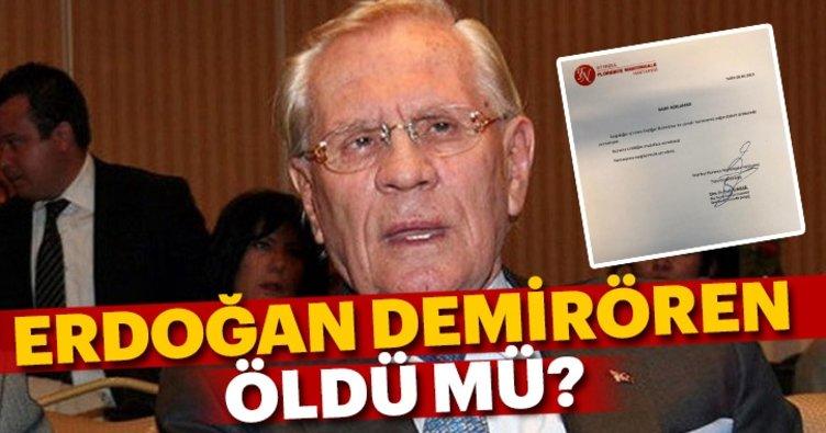 SON DAKİKA: Erdoğan Demirören öldü mü? Erdoğan Demirören kimdir ve nereli?