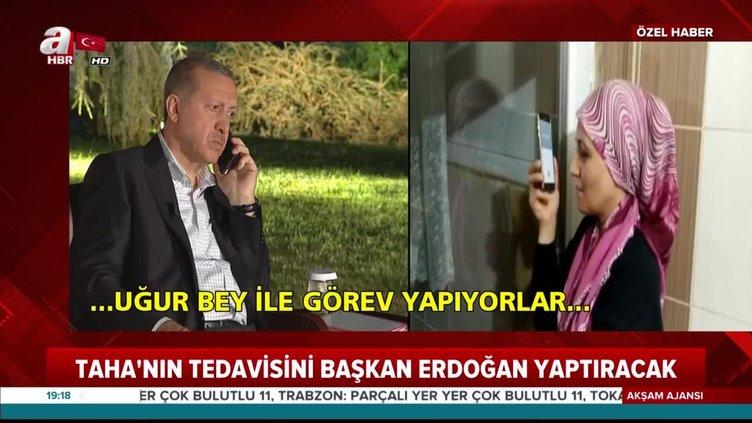 Minik Taha'dan tedavisini üstlenen Başkan Erdoğan'a teşekkür