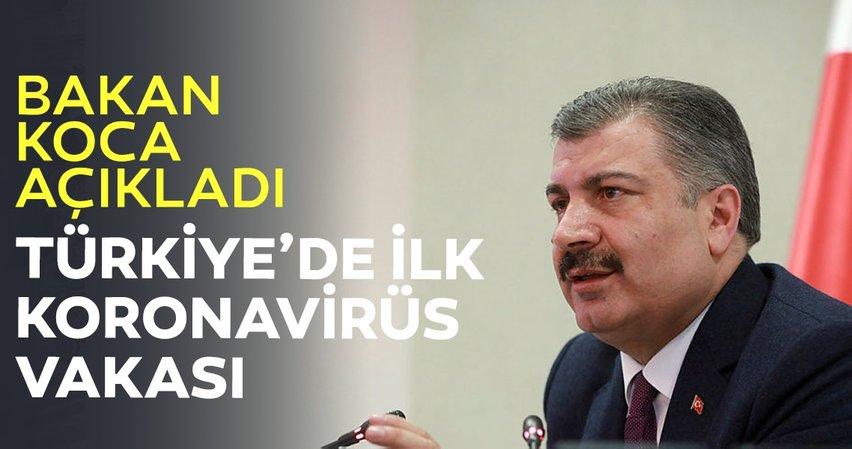 Sağlık Bakanı Koca'dan son dakika koronavirüs açıklaması! Türkiye'de ilk kez corona virüsü tespit edildi...