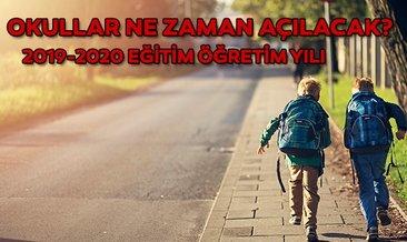 Okullar ne zaman açılacak? Ara tatil tarihleri belli oldu mu? MEB duyurdu: 2019-2020 eğitim öğretim yılı takvimi açıklandı!