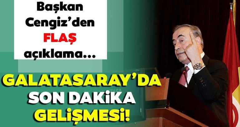 Son dakika haberi: Galatasaray'da flaş gelişme! Başkan Cengiz'den Rodrigues açıklaması…