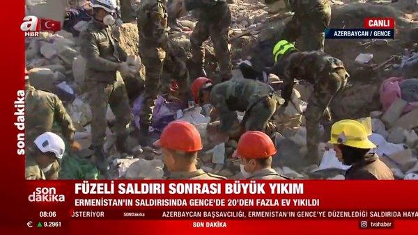 Son dakika... Ermenistan'dan kalleş saldırı! Azerbaycan'ın Gence kentinden canlı yayınla son durum | Video