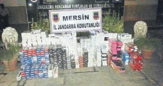 Erdemli'de kaçak sigara operasyonu