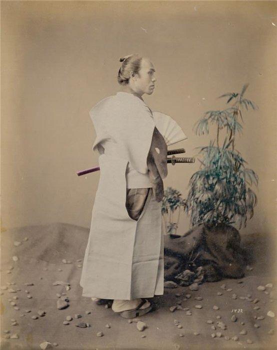 Son samuraylara ait 1800'lerden renkli fotoğraflar