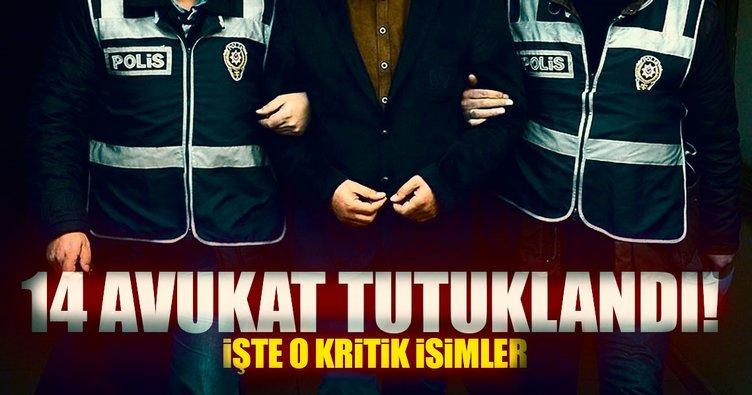 DHKP-C'li irtbatlı 14 avukat tutuklandı