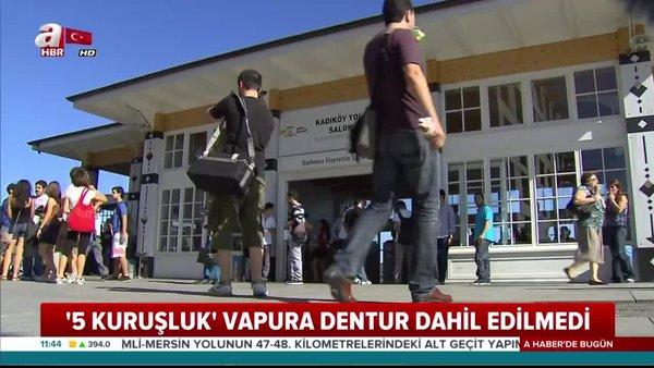 İstanbul'da 5 kuruşluk vapurla milyonluk rant | Video