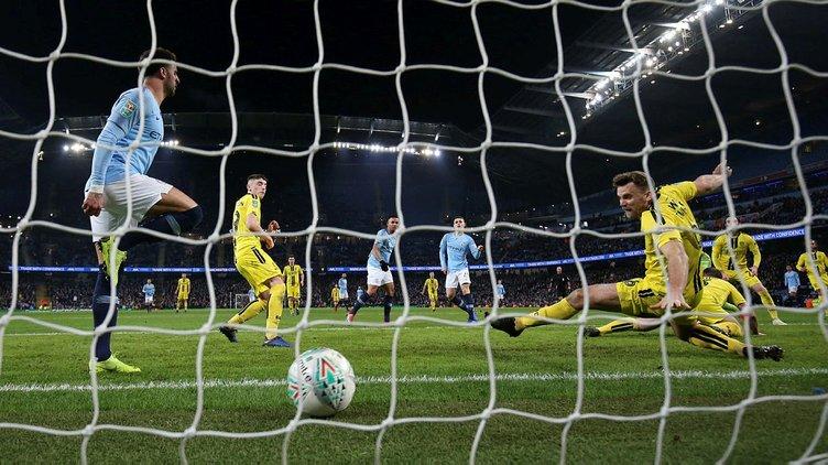 Manchester City'den Burton Albion'a gol yağmuru