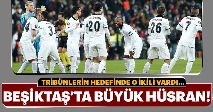 Beşiktaş taraftarlarından iki oyuncuya sert tepki