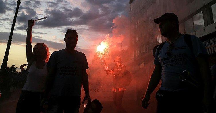 Yunanistan'da Türkiye karşıtı gösteri!
