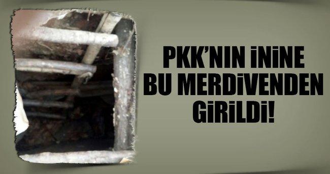 Kulp'ta PKK'rın 5 odalı büyük sığınağı bulundu