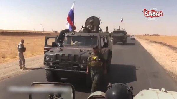 Terör örgütü PYD mensubu Rus aracından inerken görüntülendi   Video