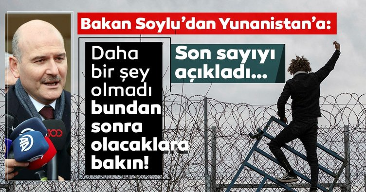 İçişleri Bakanı Süleyman Soylu'dan SON DAKİKA açıklamaları: Önümüz yaz, siz olacaklara bakın...