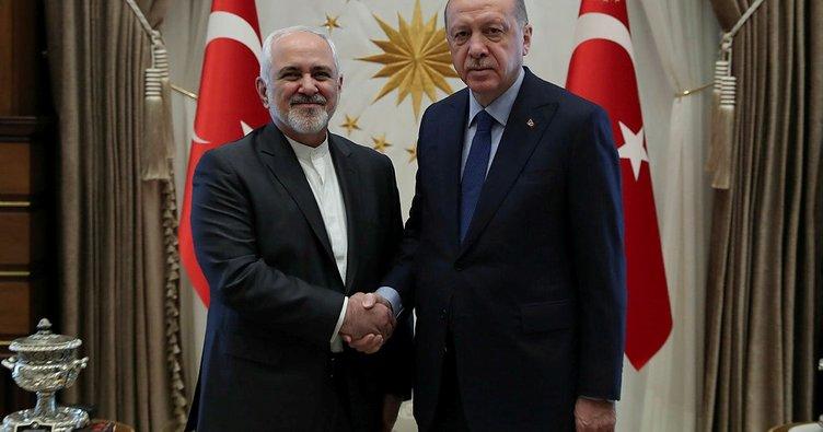 Cumhurbaşkanı Erdoğan İran Dışişleri Bakanı'nı kabul etti
