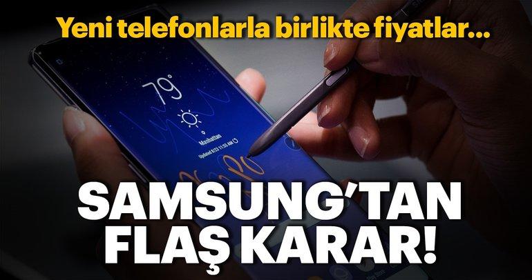 Samsung'tan flaş karar: Yeni telefonların fiyatları...