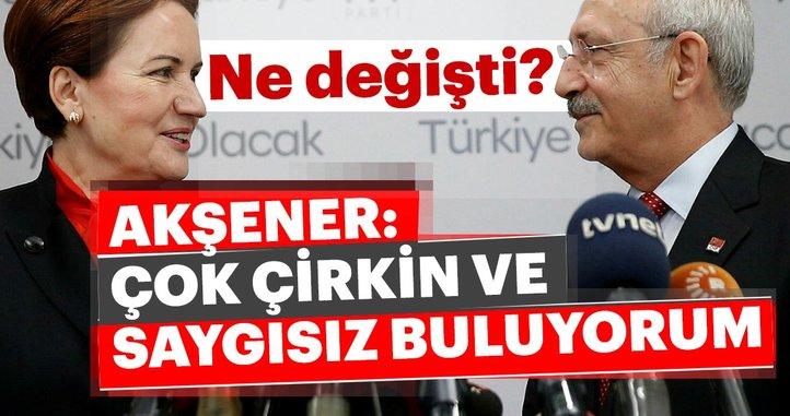 Akşener, CHP ile yan yana yürüme iddiaları için 'Çok çirkin ve saygısız buluyorum' demişti