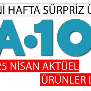 A101 aktüel ürünler listesi ile huzurlu alışverişler! 25 Nisan A101 KATALOĞU (YENİ HAFTA)