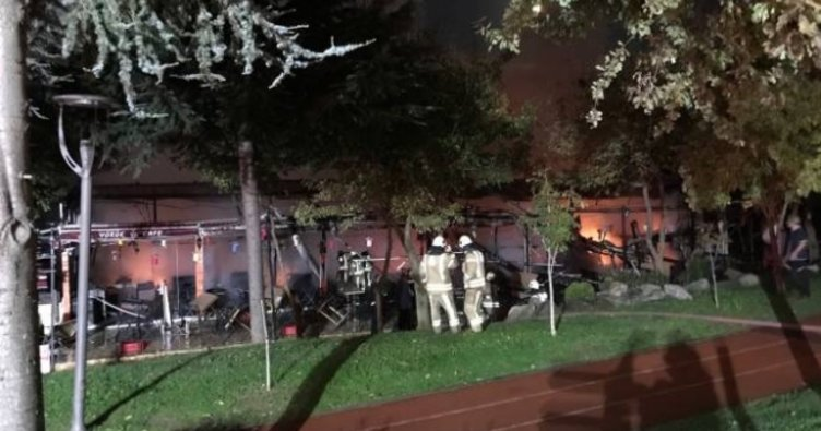 İstanbul Bayrampaşa'da kafede yangın