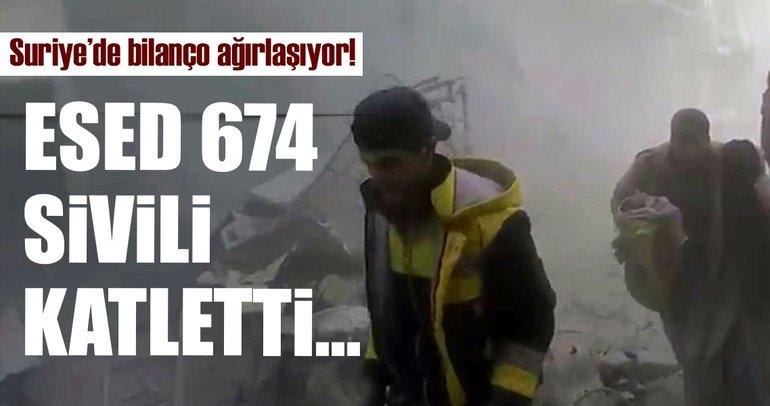 Doğu Guta'da büyük katliam: 12 günde 674 sivil hayatını kaybetti!