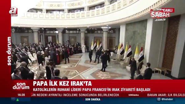 Papa Franciscus, Irak Başbakanı Kazimi ve Cumhurbaşkanı Salihi ile görüştü | Video