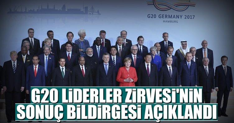 G20 Liderler Zirvesi'nin sonuç bildirgesi açıklandı