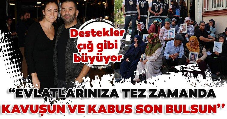 Ceyda Düvenci ve Bülent Şakrak Diyarbakır annelerine destek verdi!