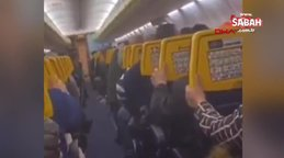Türbülansa giren uçaktaki şok görüntüleri ortaya çıktı | Video