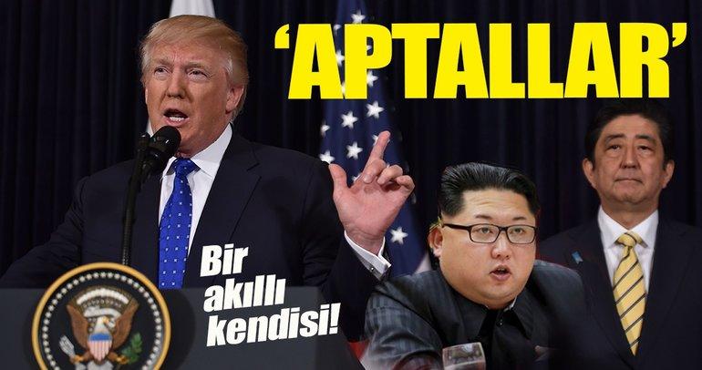 """Trump, Kuzey ve Güney Kore'ye """"Aptallar"""" dedi"""