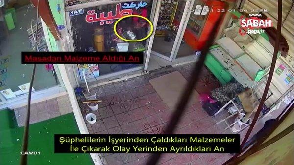 Tornavida ile kapıyı açan hırsız kamerada | Video