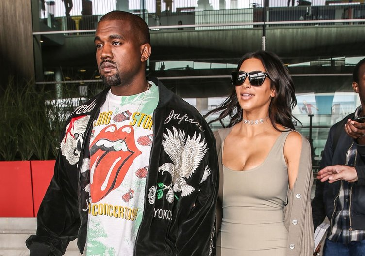 Kim Kardashian & Kanye West Paris'te