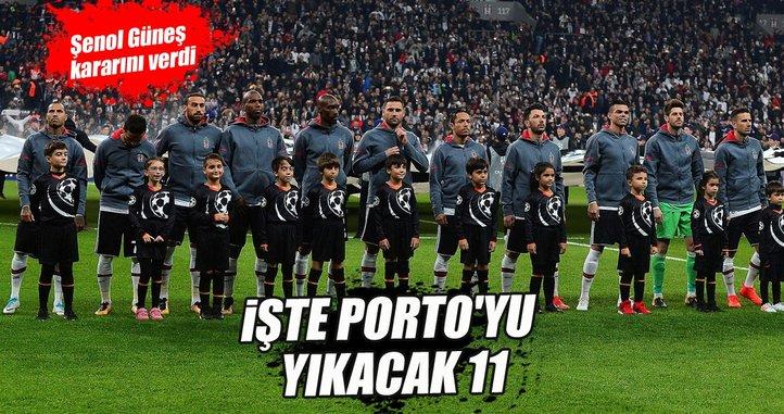 İşte Beşiktaş'ın Porto maçı 11'i