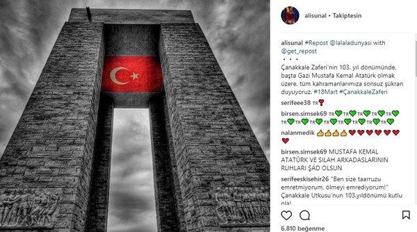 Ünlü isimlerin Instagram paylaşımları (18.03.2018)