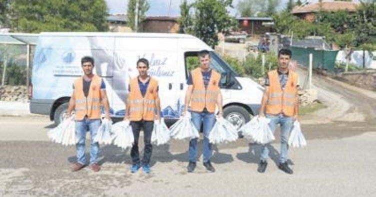 120 bin çöp poşeti dağıtıldı