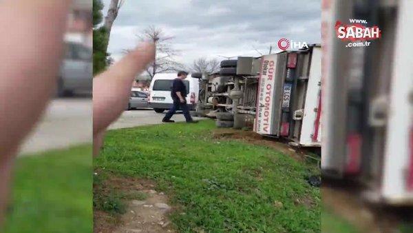 Sanayi sitesini hortum vurdu, dehşet anları kameraya böyle yansıdı | Video