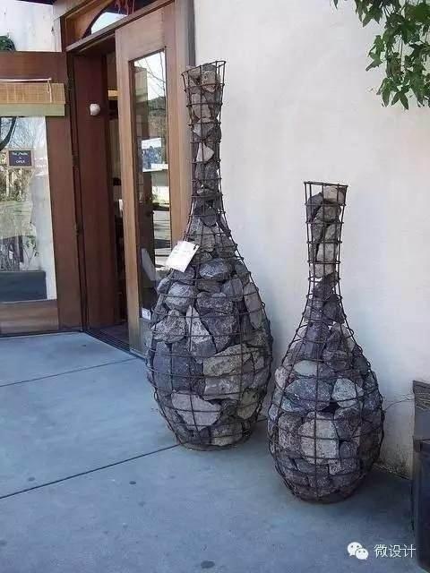 Çakıl taşlarıyla yapılan muhteşem dekorasyonlar