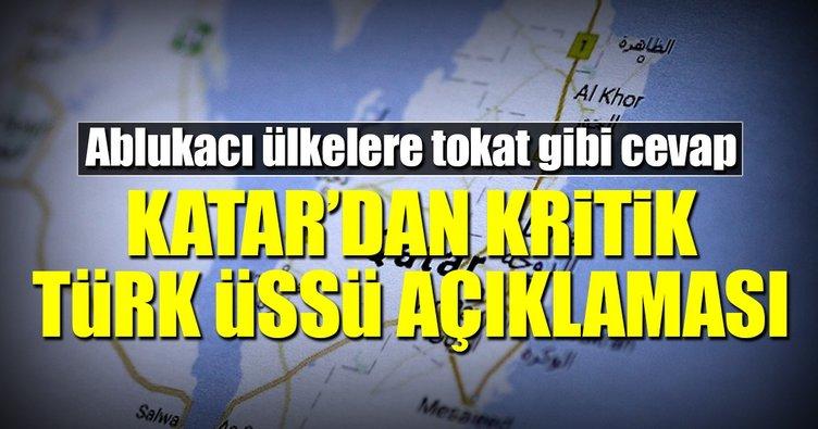 Katar'dan kritik Türk üssü açıklaması