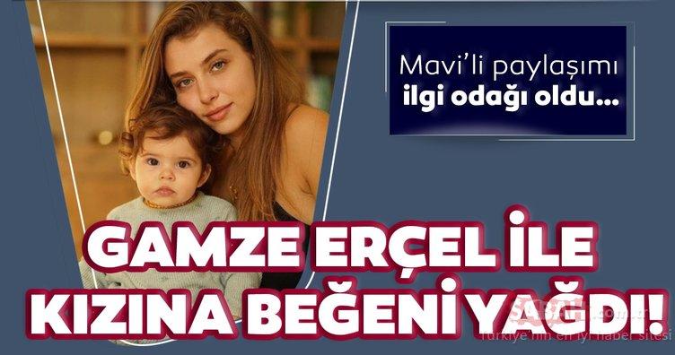 Hande Erçel'in ablası Gamze Erçel'den Mavi'li paylaşım… Gamze Erçel sosyal medyayı salladı!