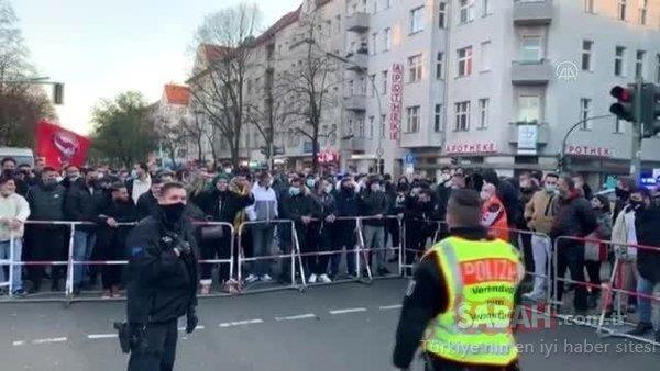 Kur'an-ıKerimyakmak isteyenRasmus Paludan'aBerlin'de devprotesto