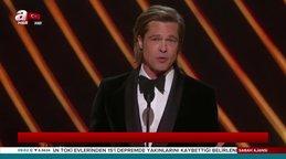 Son dakika! Oscar 2020 Ödül Töreni'nde Brad Pitt sürprizi! 92. Oscar ödüllerinde kazananlar böyle açıklandı...  | Video