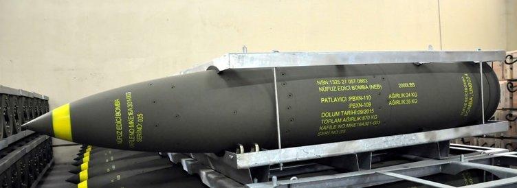 Sığınak delici milli bombalar üretiliyor