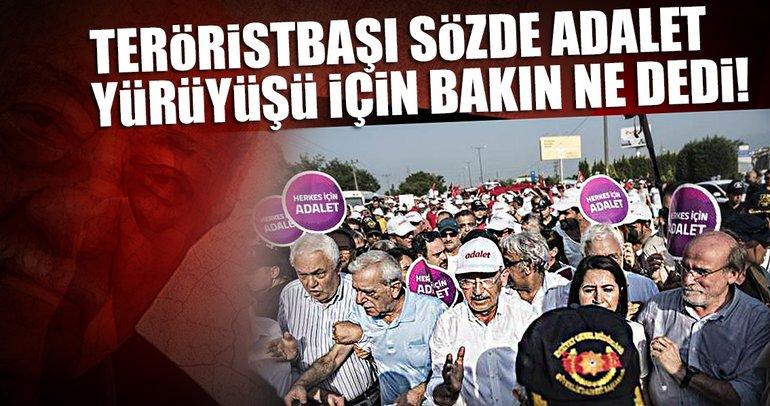 Teröristbaşı Gülen Kılıçdaroğlu'nun yürüyüşünü yetersiz buldu