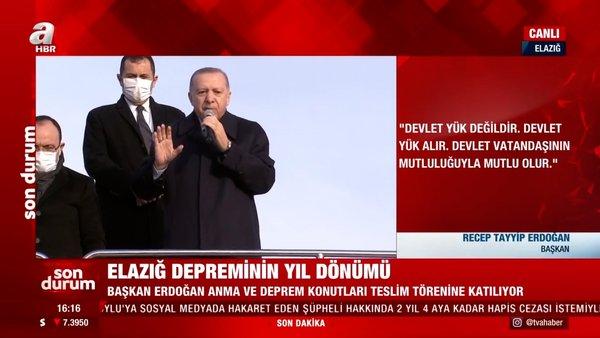 Son dakika: Cumhurbaşkanı Erdoğan'dan Elazığlılara müjde