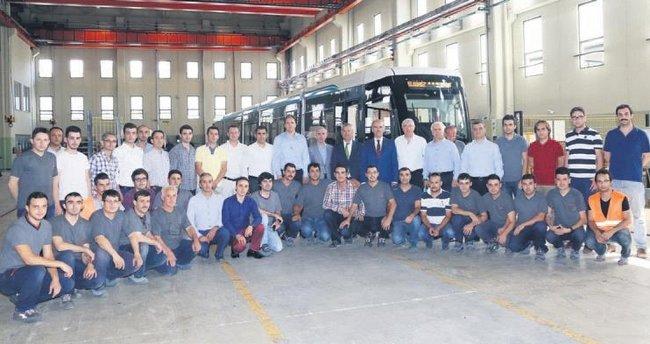 Kocaeli'nin tramvayları Bursa'da yapılıyor