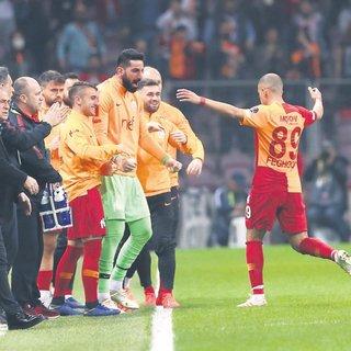 Galatasaray gövde gösterisi yaptı