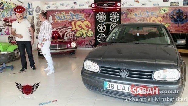 Eski kasa Volkswagen Golf'ünü o ustalara bırakmıştı! Aracını almaya geldiğinde şoke oldu!