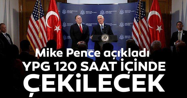 ABD Başkan Yardımcısı Mike Pence'den son dakika Barış Pınarı Harekatı açıklaması! İşte detaylar...