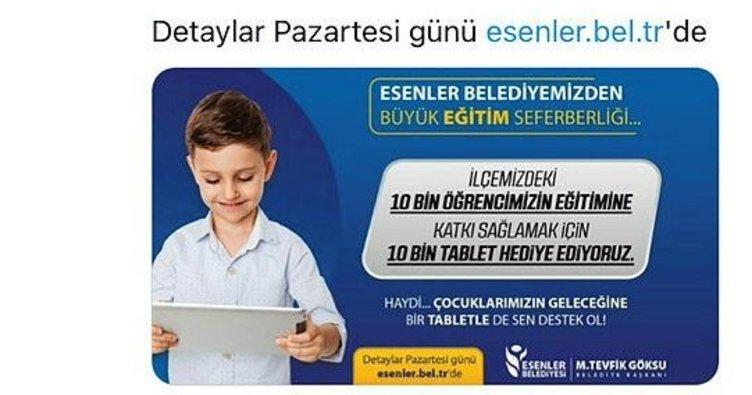 Tuzla ve Esenler'den tablet kampanyası