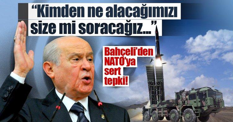 Bahçeli'den NATO'ya sert tepki!