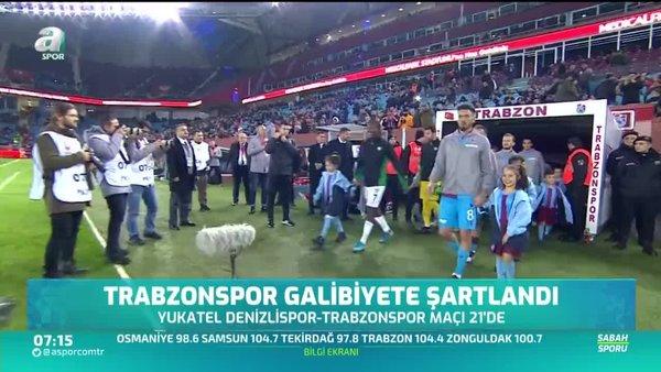 Trabzonspor galibiyete şartlandı