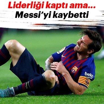 Barcelona liderliği kaptı ama Messi'yi kaybetti