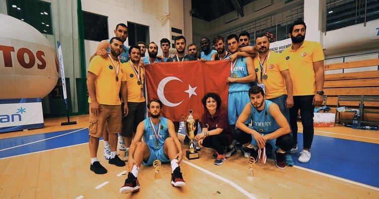 Beykent Üniversitesi basketbolda Avrupa 2.'si oldu!